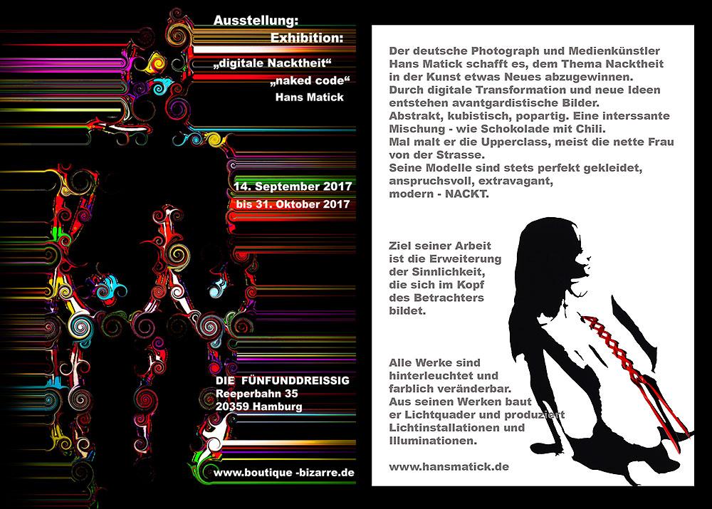 """Hans Matick: Ausstellung """"Digitale Nacktheit"""", Hamburg"""