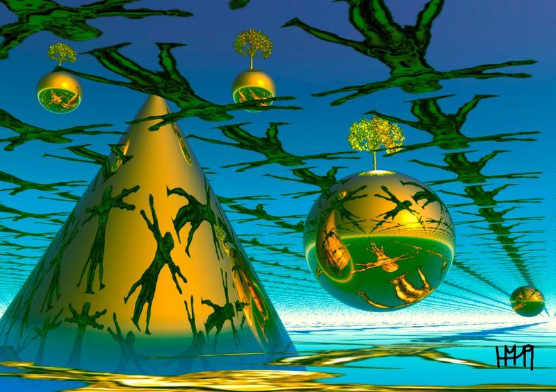 3D-Computerkunst (c) Hans Matick
