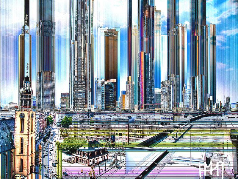 Frankfurt - Digital Art by Hans Matick